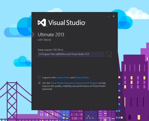 Visual Studio 2013 Kurulumu Adım 1