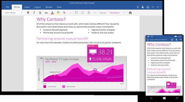 Windows 10 için Office 2016 - Word