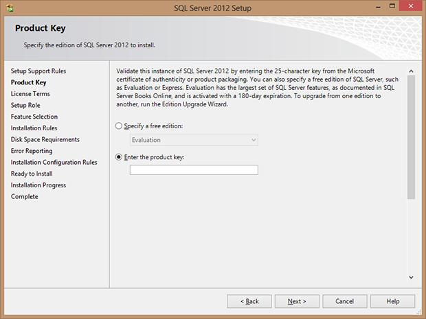SQL Server Lisans Ekranı