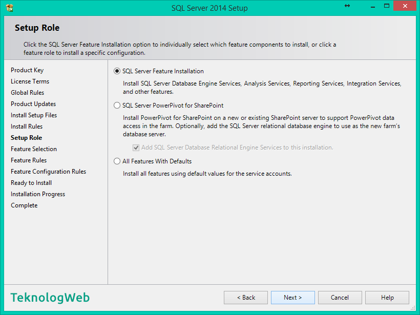SQL Server 2014 - Setup Role