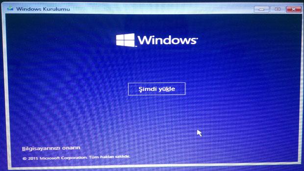 Windows 10 kurulumu - Resimli Anlatım Adım 2