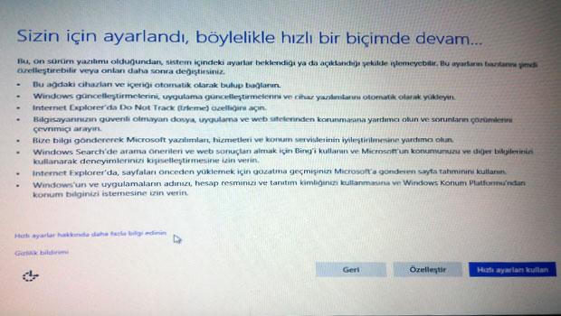 Windows 10 kurulumu - Resimli Anlatım Adım 8