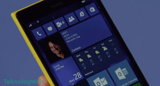 Windows Phone 10 Başlat Menüsü