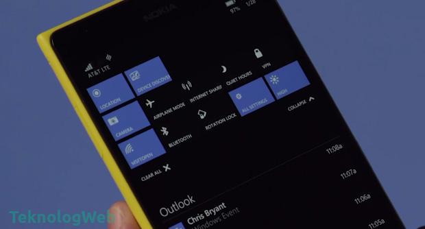 Windows 10 Eylem Merkezi
