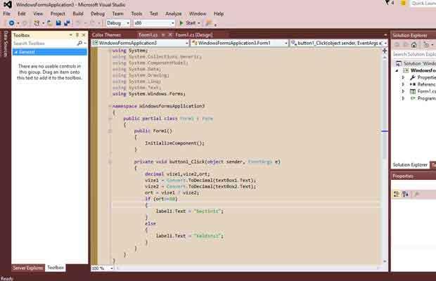 Visual Studio Görünümü Değiştirme