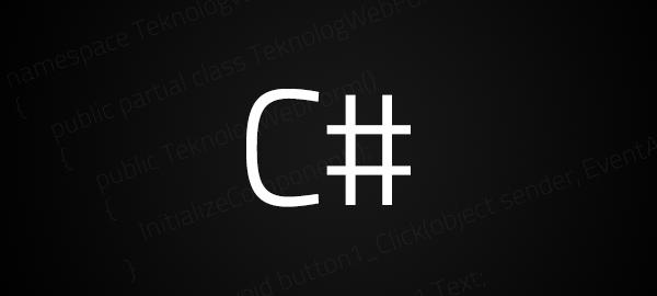C# Csharp Programlama Dili Nedir
