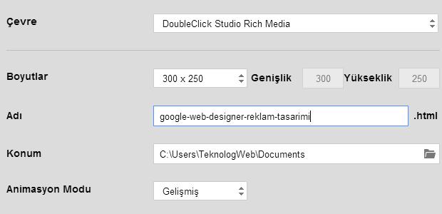 Google Web Designer ile Reklam Tasarımı Nasıl Yapılır