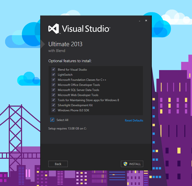 Visual Studio 2013 Kurulumu Adım 2