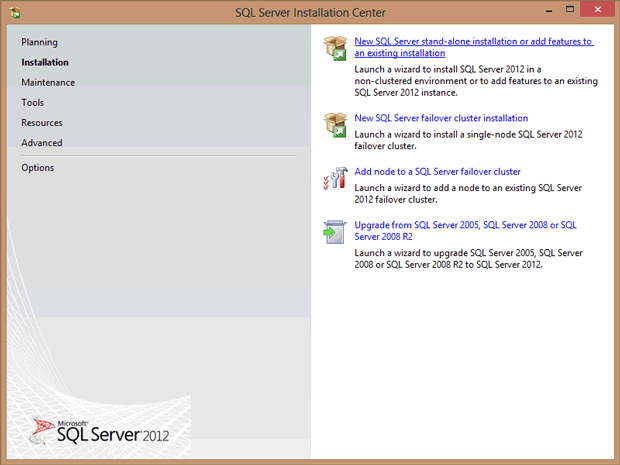 SQL Server 2012 Kurulumu: New SQL Server Stand-alon installation