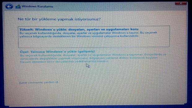 Windows 10 kurulumu - Resimli Anlatım Adım 4
