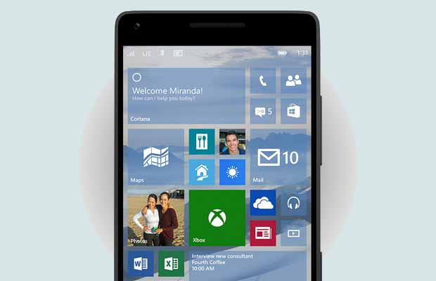 Windows Phone için Windows 10 Güncellemesi