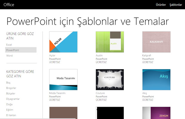 PowerPoint Temaları ve Şablonları