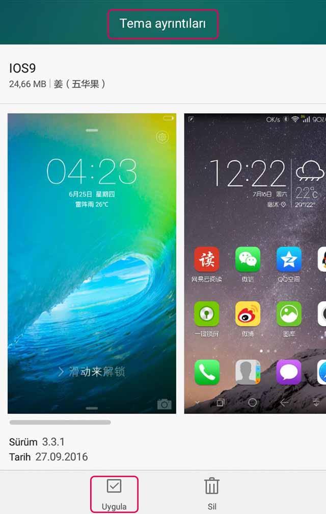 Huawei Temaları