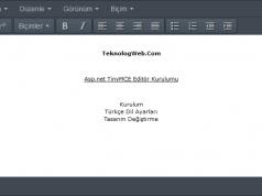 Asp.net TinyMCE Editör Kurulumu