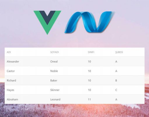 VueJS ve Asp.net MVC İlk Bakış